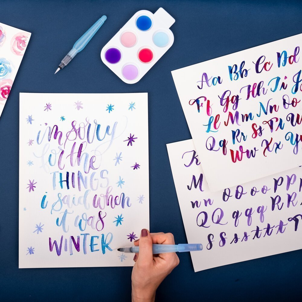 Brush lettering can come in handy for holiday cards.